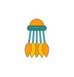 Badminton equipment vector