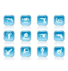 Building and Construction Tools icons vector image