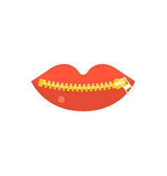 closed zipper mouth vector image