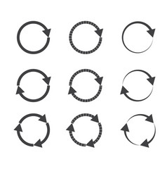 gray circle arrow on white background gray circle vector image