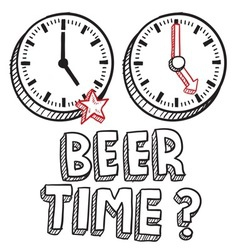 Beer time vector image