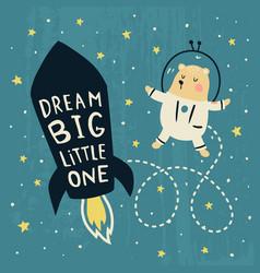 dream big bear vector image