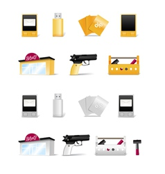 Modern stuff collection vector image vector image