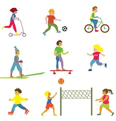 People making different sports - funny design vector image