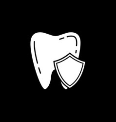 protection solid icon vector image