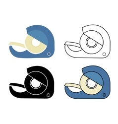 Scotch tape icons set vector image vector image