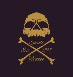Skull Badges vector image