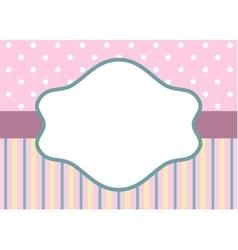 stripes and polka dot on pink vector image vector image
