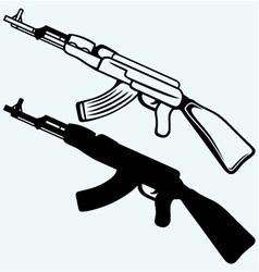 Assault rifle ak47 vector image