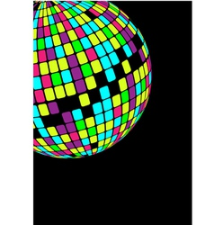 glowing disco ball vector image vector image