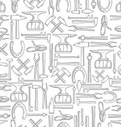 Seamless pattern blacksmith vector image