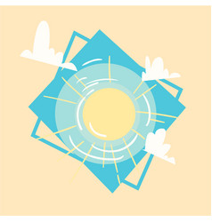 sun icon summer sea vacation concept summertime vector image