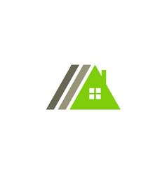 triangle house roof company logo vector image
