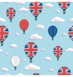 uk hot air balloon pattern vector image vector image