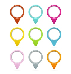 Location pointers set vector image vector image