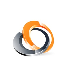 logo with rings vector image vector image