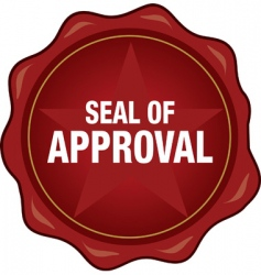 quality seal of approval vector image vector image