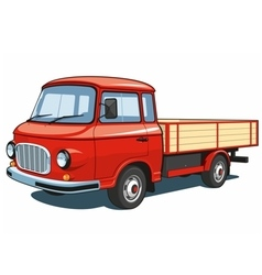 Red small truck vector image vector image