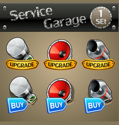 upgrade and buy parts icons for race game-set 1 vector image vector image