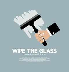 Wipe the glass vector