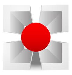 3d crosshair reticle target graphics editable vector