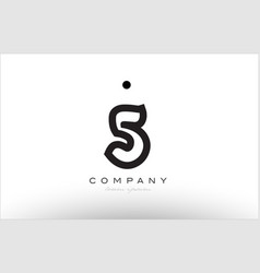 5 number logo icon template design vector image