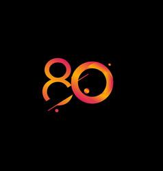 80 years anniversary celebration gradient number vector
