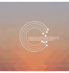 Abstract background of digital technologies vector image