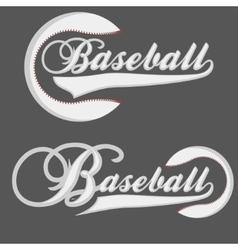 Baseball Logotpe vector image