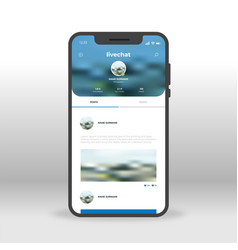blue live chat ui ux gui screen for mobile apps vector image