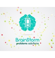 Brainstorm brain creation and idea logo template vector image