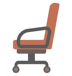 Brown office chair vector