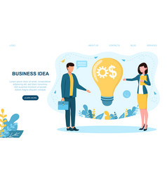 business idea embody into real thing vector image