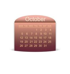 Calendar October 2015 vector image