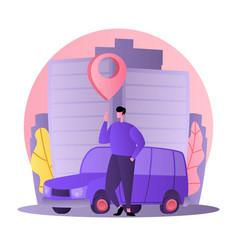 Car business sharing service concept car rental vector