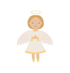 cartoon angel isolated vector image