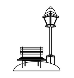 chair and street light vector image
