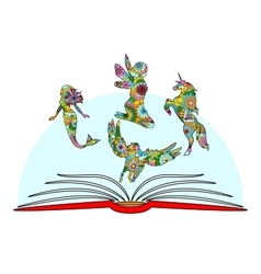 Childrens book vector image