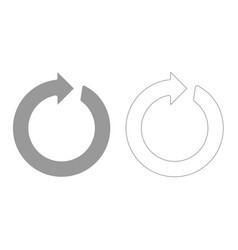 circle arrow grey set icon vector image
