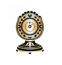 Classic Round Golden clock vector