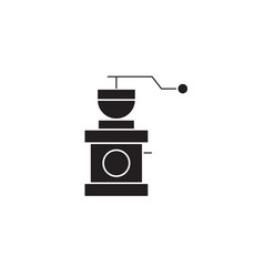coffee grinder black concept icon coffee vector image