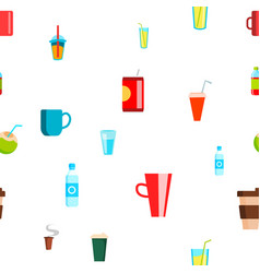 cold hot drink seamless pattern tropical vector image