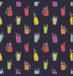 colorful seamless pattern with refreshing soft vector image