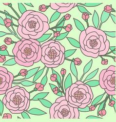 cute pastel peony flowers vector image