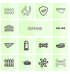 Defense icons vector