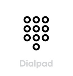 dialpad call phone icon editable line vector image