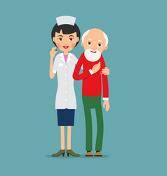 Doctor and patient practitioner doctor woman vector