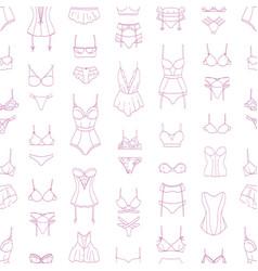 Elegant seamless pattern with lingerie sleepwear vector