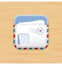 envelope mail app icon vector image