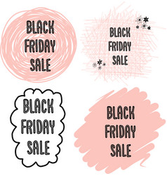 Feminine black friday sales banner set vector